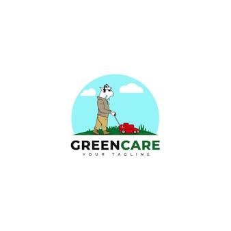 Ilustración del logo de cuidado del césped