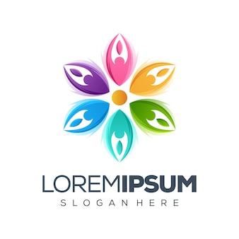 Ilustración del logo de flor