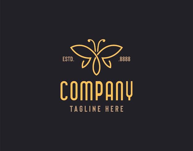 Ilustración del logo de mariposa de mariposa