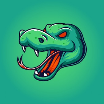 Ilustración del logo de la mascota de la serpiente