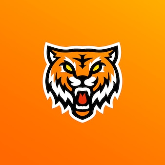 Ilustración del logo de la mascota del tigre