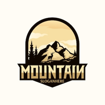 Ilustración del logo de montaña