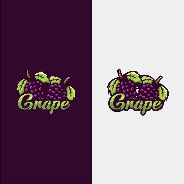 Ilustración de logo de uva