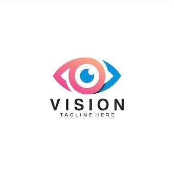 Ilustración del logo de vision logo eye icon