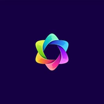 Ilustración de logotipo abstracto colorido