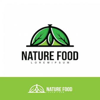 Ilustración de logotipo de alimentos de la naturaleza.