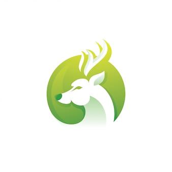 Ilustración de logotipo de antílope de corzo