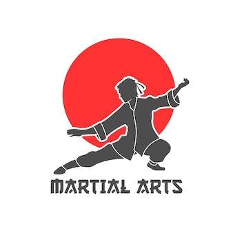 Ilustración de logotipo de artes marciales