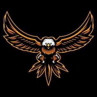 Ilustración del logotipo de bald eagle esport