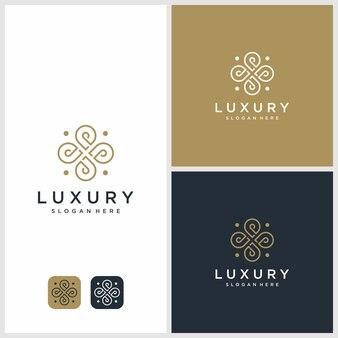 Ilustración de logotipo de belleza y lujo. belleza, moda, salón, spa,