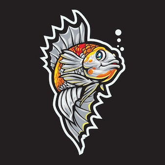 Ilustración del logotipo de betta fish esport