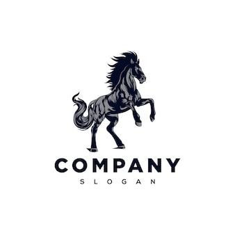 Ilustración de logotipo de caballo fuerte