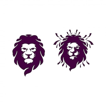 Ilustración de logotipo de cabeza de león