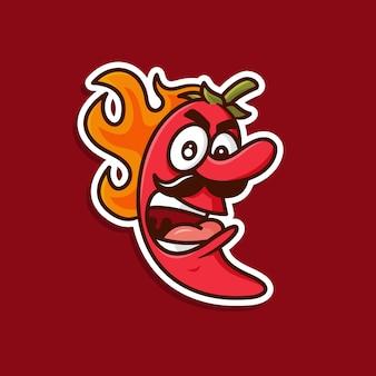 Ilustración de logotipo de chile picante