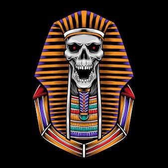 Ilustración de logotipo de cráneo esfinge