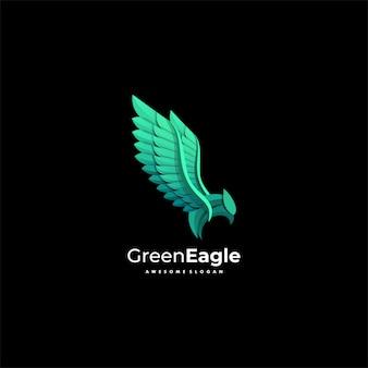 Ilustración del logotipo eagle gradient colorful style.