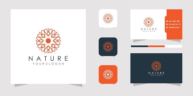 Ilustración de logotipo de flor abstracta