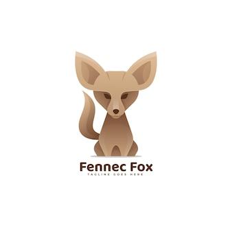 Ilustración de logotipo fox estilo colorido degradado.