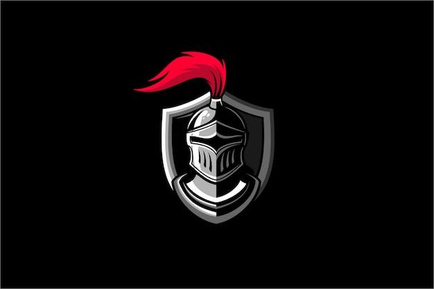 Ilustración de logotipo de guerrero caballero