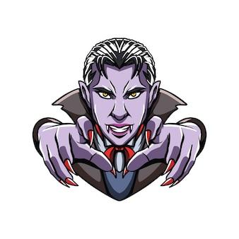 Ilustración del logotipo de las ilustraciones de drácula