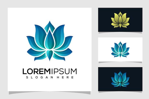 Ilustración de logotipo de loto abstracto