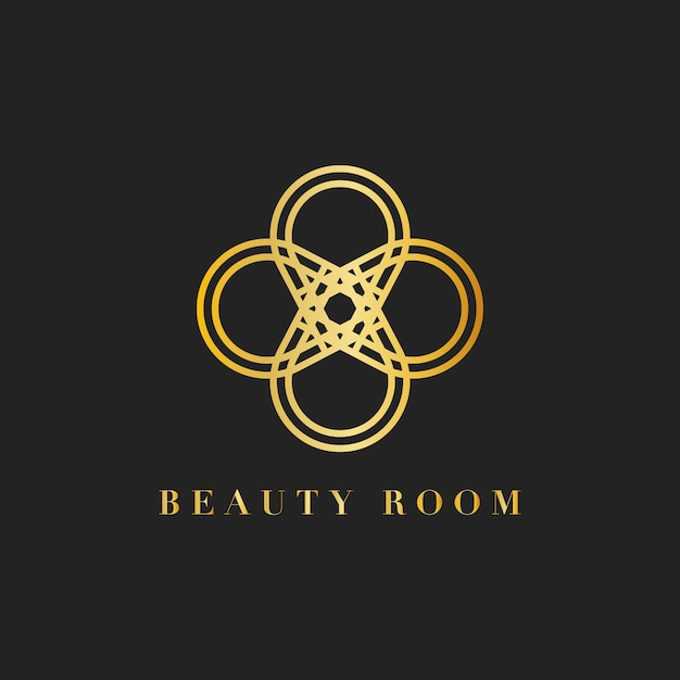 Ilustración de logotipo de marca de sala de belleza