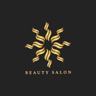 Ilustración de logotipo marca de salón de belleza