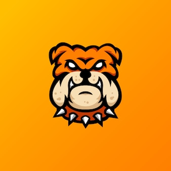 Ilustración de logotipo de mascota bulldog