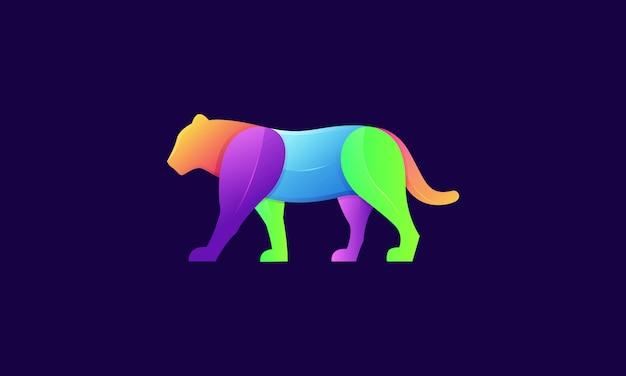 Ilustración de logotipo moderno tigre