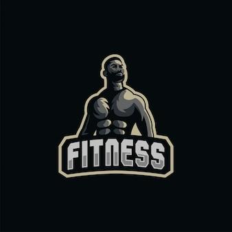 Ilustración de logotipo de músculo