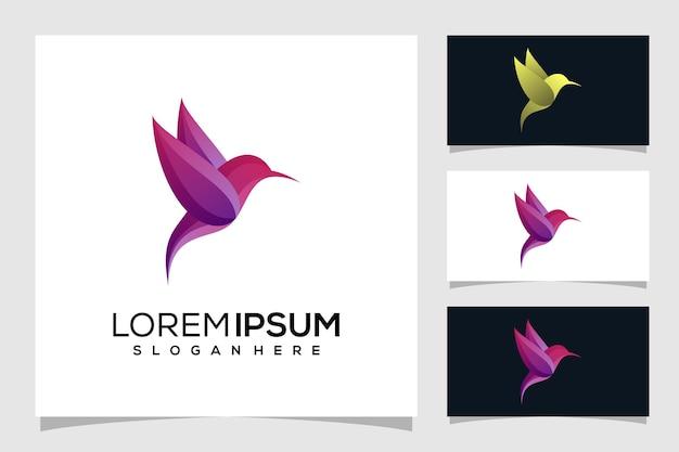 Ilustración de logotipo de pájaro abstracto