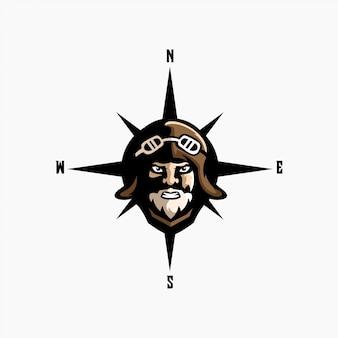 Ilustración de logotipo piloto