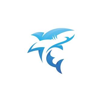 Ilustración del logotipo de tiburón