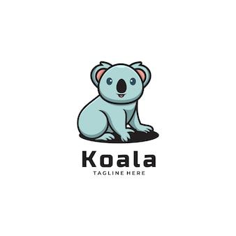 Ilustración de logotipo vectorial estilo de dibujos animados de la mascota de koala.