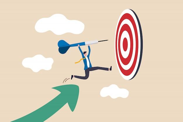 Ilustración de logro de objetivos empresariales