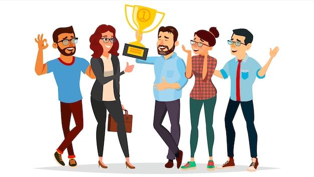 Ilustración de logro de personas de negocios