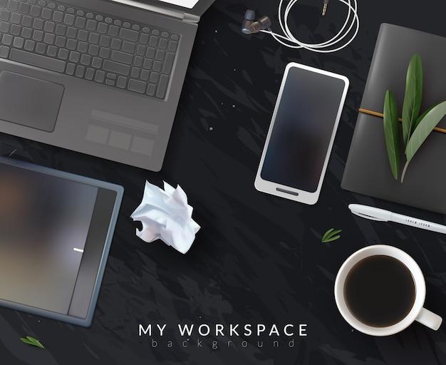 Ilustración de lugar de trabajo realista