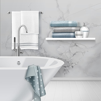 Ilustración de luz interior del baño.