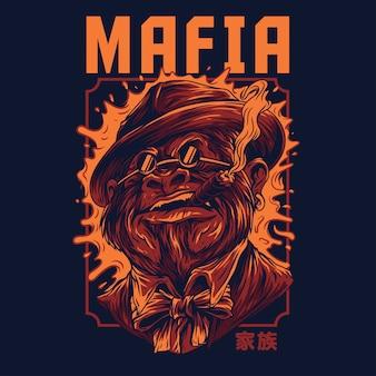Ilustración mafia remasterizada