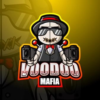 Ilustración de mafia vudú mascota esport