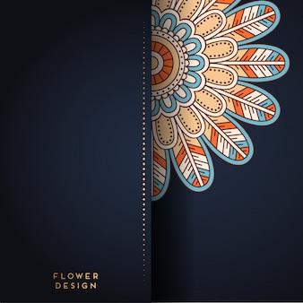 Ilustración de mandala en diseño floral