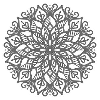 Ilustración de mandala de estilo étnico oriental para decoración