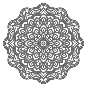 Ilustración de mandala con estilo étnico oriental