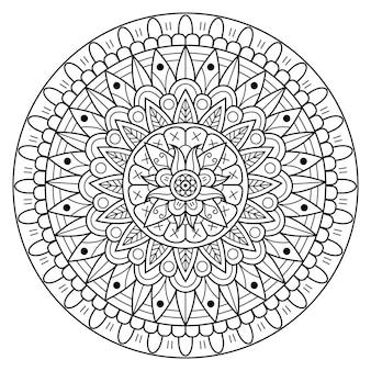 Ilustración de mandala de lujo creativo
