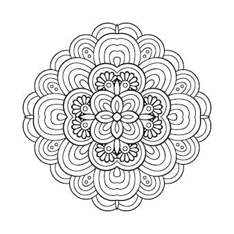 Ilustración de mandala ornamental de lujo
