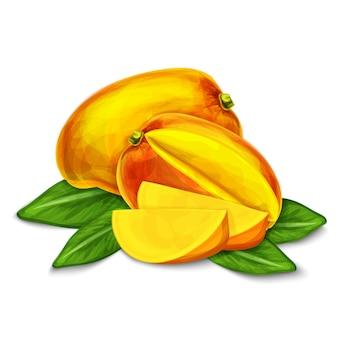 Ilustración de mango aislado