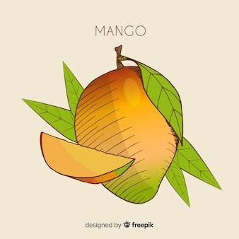 Ilustración mango dibujada a mano
