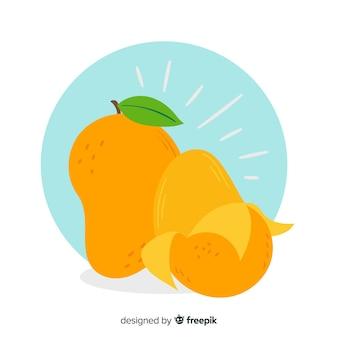 Ilustración de mango dibujado a mano