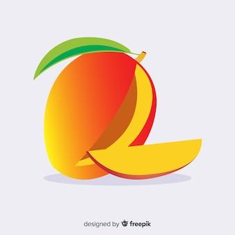 Ilustración mango plano