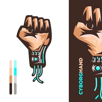 Ilustración de la mano de cyborg